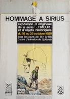 Affiche Pour Une Exposition D,hommage à Sirius En 1986. - Livres, BD, Revues