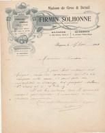 Lettre Illustrée 15/2/1911 Firmin SOLHONNE Coiffure Parfumerie BAYONNE Basses Pyrénées - France