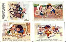 POTASSE D'ALSACE - En Lot: Une Série De 4 Cartes Anciennes Humoristiques - Vente Directe X - France