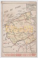 Carte Géographique, Flandre Occid.le-West Vlaanderen, Margarine BRABANTIA, Neuve - Carte Geografiche