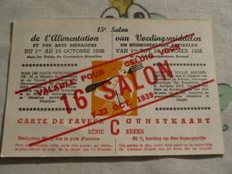 Brussel Bruxelles Salon De L'alimentation  1938 Voedingssalon L'abeille D'or Goossens Bon Miel - Fêtes, événements
