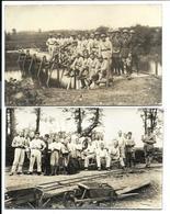 MILITARIA MOSELLE (1932 Et 1934)  - 2 CARTES PHOTO - Localisées Au Verso - MAGNY Sur  Seille - METZ - Francia