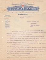Lettre Illustrée 23/4/1915  A La Ville De MADRID Galeries Modernes Lingerie Bonneterie BAYONNE Basses Pyrénées - France