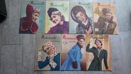Lot 7 Revues Nouveauté Et Mode Pratique 1939 Tricot Patron Cuisine Recettes Tricot - Books, Magazines, Comics