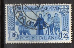 ITALIE ( POSTE ) : Y&T N° 278  TIMBRE  BIEN  OBLITERE , A  VOIR . - 1900-44 Victor Emmanuel III