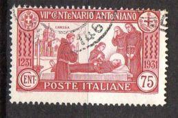 ITALIE ( POSTE ) : Y&T N° 277  TIMBRE  BIEN  OBLITERE , A  VOIR . - 1900-44 Victor Emmanuel III