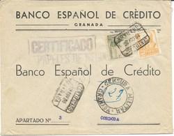 España. Carta Certificada De Granada A Córdoba - 1931-Hoy: 2ª República - ... Juan Carlos I