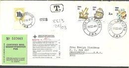 (573) 1990 R-Brief  Taxed 10  Pdue SG D62  - Namibie (1990- ...)