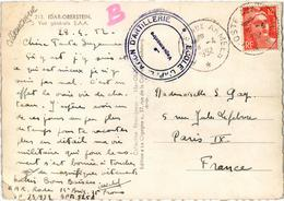 ALLEMAGNE - IDAR-OBERSTEIN - Vue Générale - Rare - Cachet De L'école D'application D'artillerie  Carte Postée En 1952 - Idar Oberstein