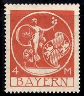 Bavière Reich Michel N° 135 III Variété Sans Surcharge Deutsches Reich Neuf ** MNH. B/TB. A Saisir! - Bavaria