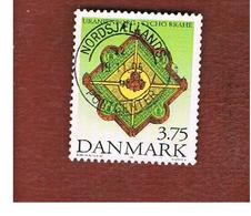 DANIMARCA (DENMARK)  -   SG 1057  -  1995 TYCHO BRAHE, ASTRONOMER    - USED ° - Usati