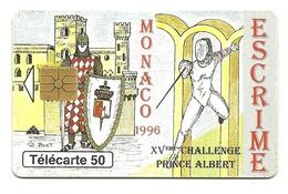 Monaco - Tessera Telefonica Da 50 Units T596 - Sport