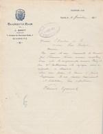 Lettre Illustrée 12/1/1931 J BRET Biarritz Bar BIARRITZ Basses Pyrénées - France