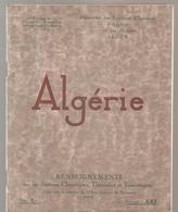 ALGERIE Fascicule N° XXI De 1924 Fédération Des S.I  D'Alger - Autres