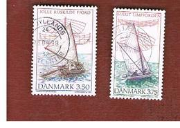 DANIMARCA (DENMARK)  -   SG 1074.1075  -  1996  WOODEN SAILING BOATS     - USED ° - Usati