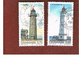 DANIMARCA (DENMARK)  -   SG 1077.1078  -  1996  LIGHTHOUSES     - USED ° - Danimarca