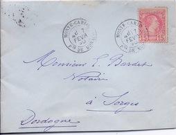 MONACO - LETTRE POUR SORGES DORDOGNE 1890 - Monaco