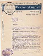 Lettre Illustrée 21/1/1936 DARRAÏDOU & CHERENCQ Transports Internationaux HENDAYE Basses Pyrénées Pasages Irun Espagne - France