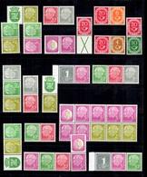 Allemagne/RFA Belle Collection De Timbres De Carnets 1949/1956 (paires, Bandes, Se-tenant, Pub). Neufs ** MNH. A Saisir! - [7] West-Duitsland