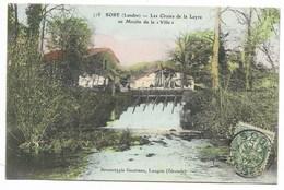 40-SORE-Les Chutes De La Leyre Au Moulin De La Ville...1907  Animé - Sore