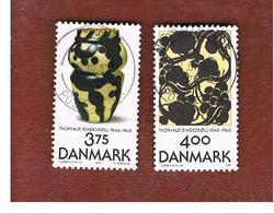 DANIMARCA (DENMARK)  -   SG 1082.1083 -  1996  T. BINDESBOLL, CERAMIC ARTIST (COMPLET SET OF 2)     - USED ° - Usati