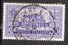 ITALIE ( POSTE ) : Y&T N° 276  TIMBRE  BIEN  OBLITERE , A  VOIR . - 1900-44 Victor Emmanuel III