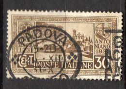 ITALIE ( POSTE ) : Y&T N° 275  TIMBRE  BIEN  OBLITERE , A  VOIR . - 1900-44 Victor Emmanuel III