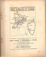 Côte D'Azur Et Corse Fascicule N° XVI De 1924 Fédération Des S.I De La Côte D'Azur Et De La Corse - Corse