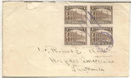 GUATEMALA CC 1929 SELLOS PALACIO NACIONAL DE ANTIGUA - Guatemala