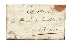 Monein. Oloron Ste Marie. Pli 1814. - Marcophilie (Lettres)