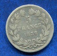 PIECE 5 FR 1838 D LOUIS PHILIPPE I - France