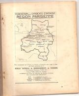 Région Parisienne Fascicule N° III De 1924 Fédération Des S.I De La Région Parisienne - Ile-de-France