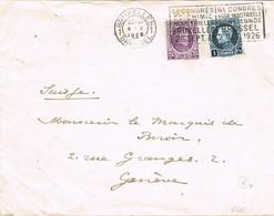 31179. Carta BRUXELLES (Belgien) 1926. Congres De Chimie Industrielle. Quimica - Bélgica