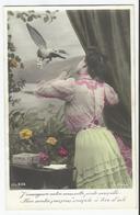 2 CPA Fantaisie Poste Nouvelle - Lettre Tendresse Par Pigeon Voyageur - Colombophilie - Poste & Facteurs