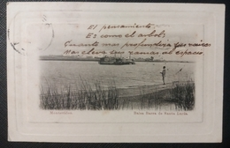 HC 1904 - URUGUAY Montevideo - BALSA BARRA DE SANTA LUCIA - TESTASECCA - SCARCE USED POSTCARD - Uruguay