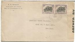 GUATEMALA CC 1918 SELLOS CUARTEL DE ARTILLERIA CON CENSURA USA - Guatemala