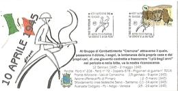 """Alfonsine, 10.4.2005, CIL, Guerra Di Liberazione. 60° Battaglia Del Senio, Mostra """"La Cremona """" E La Sua Posta. - Militaria"""