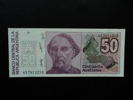 ARGENTINE : 50 AUSTRALES   ND 1986   P 326b     NEUF - Argentine