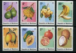 MALDIVES- Y&T N°525 à 532- Neufs Sans Charnière ** (fruits) - Maldives (1965-...)