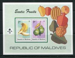 MALDIVES- B.F Y&T N°28- Neufs Sans Charnière ** (fruits) - Maldives (1965-...)