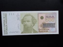 ARGENTINE : 500 AUSTRALES   ND     P 328b      NEUF - Argentine