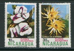 NICARAGUA- P.A Y&T N°817 Et 818- Neufs Sans Charnière ** (fleurs) - Nicaragua