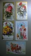 Lot De 5 Cartes Postales Anciennes / Bonne Fête Maman - Día De La Madre