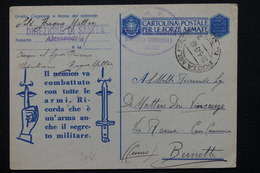 ITALIE - Carte FM De Alexandrie En 1943 Pour Beinette , Cachets Militaire - L 20848 - 9. WW II Occupation (Italian)