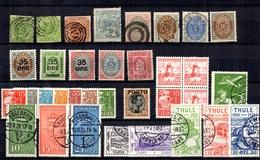 Danemark Belle Petite Collection D'anciens Neufs Et Oblitérés 1854/1936. Bonnes Valeurs. B/TB. A Saisir! - Denemarken
