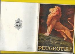 """Catalogue 1912 Cycles & Motos """"PEUGEOT"""" Beaucoup De Photos 64 Pages + Couverture Format 19 X 14 Cm Env.. - Cycling"""