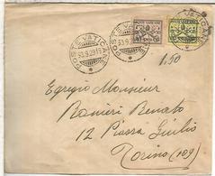 VATICANO CC A TORINO 1929 AL DORSO LLEGADA - Vatican