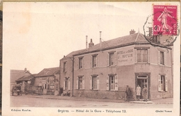 "¤¤  -   ORGERES    -  Hôtel De La Gare "" J. ROULIN ""     -  ¤¤ - France"