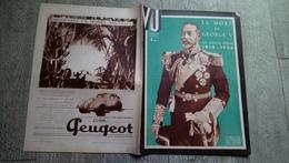Revue Vu 1936 Mort De Georges V Numéro Spécial Angleterre Politique - Books, Magazines, Comics