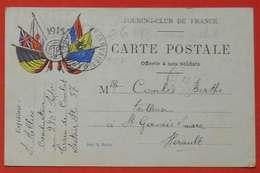Ww1 Carte En FM Militaire 1915 Offerte Touring-Club De France  Poilus Train De Combat Sans éditeur - 1914-18